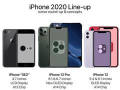 新鲜出炉的 2020 年 iPhone 全员渲染图