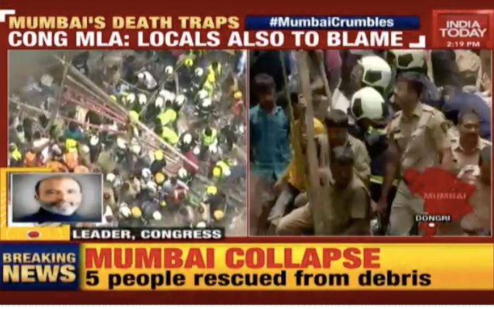 印度孟买一幢四层大楼倒塌,死亡人数增至12人