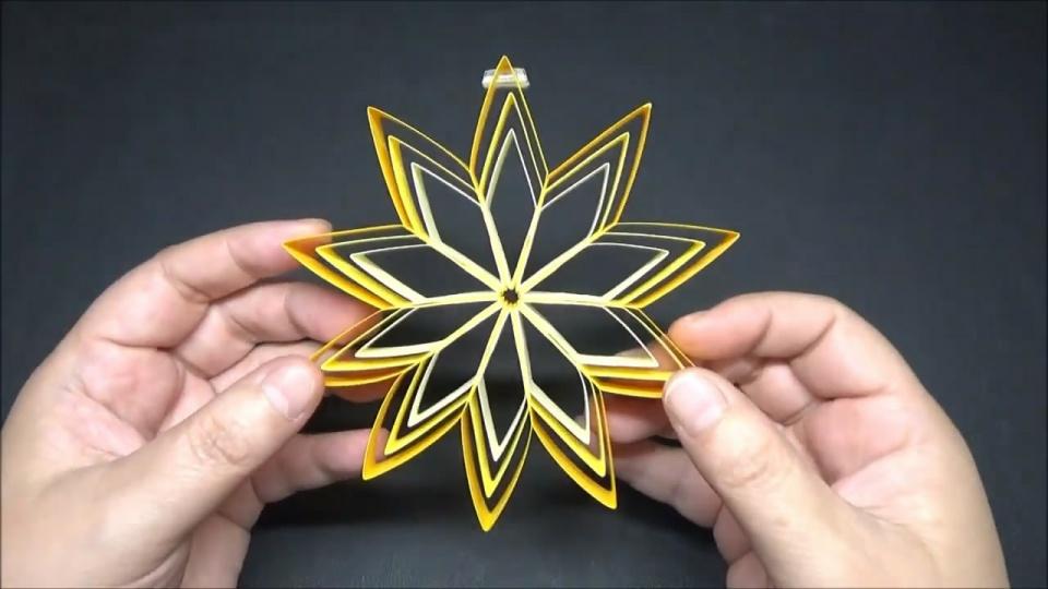 用纸花制作挂饰的方法,步骤详细又简单,趣味十足!