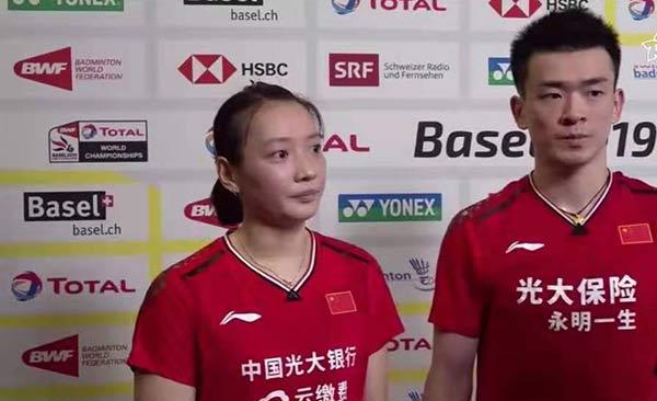 郑思维:王懿律/黄东萍我们在决赛等着你们