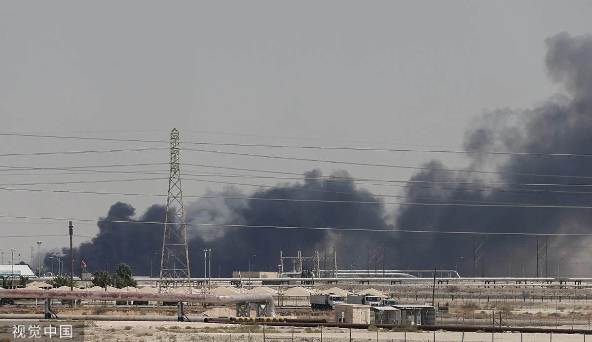 """沙特石油""""心脏""""遭袭日产量锐减一半,国际油价短期内或将暴涨10美元/桶"""