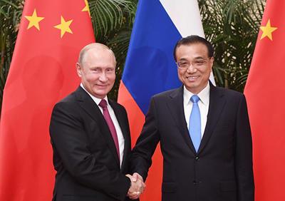 俄罗斯总统普京将与中国国务院总理李克强举行会晤
