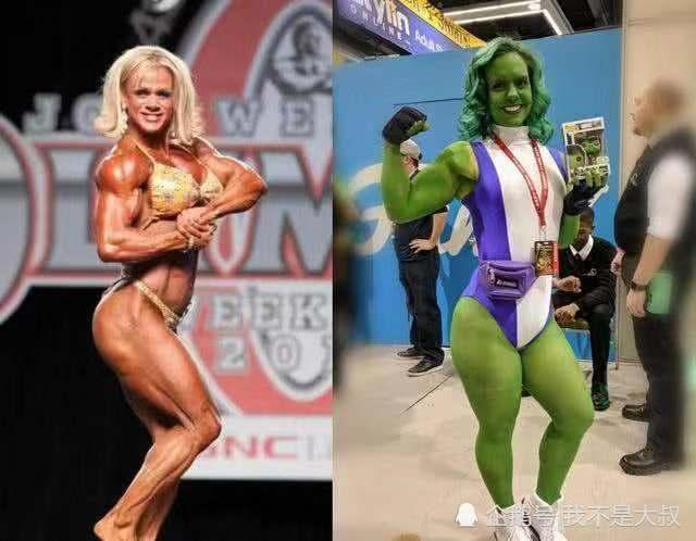 真人版绿巨人颜值,女绿巨人已经快50岁,看到最后:好莱坞硬汉