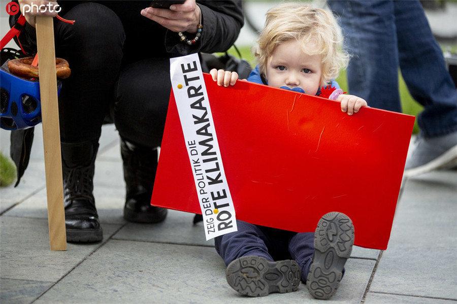 联合国气候峰会来临 德国多地开展气候抗议集会