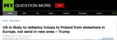 """美国增兵波兰应对""""俄罗斯威胁""""?特朗普与波兰口径不同被俄媒调侃:""""惊人地""""矛盾了"""