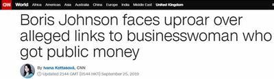 又遇闹心事!约翰逊任伦敦市长时曾向女商人提供公共资金,被要求解释
