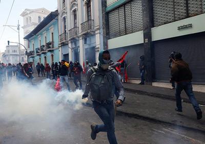 厄瓜多尔内政部长称该国抗议活动爆发来共有近450人受伤