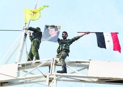"""美国肢解叙利亚的企图彻底破产,叙库武装""""牵手""""政府军水到渠成"""