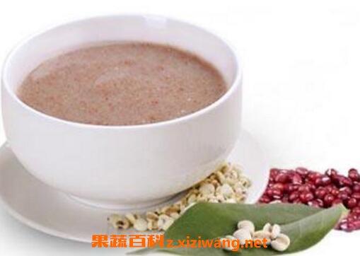 红豆薏米粉具有美容养颜功效,抑制癌细胞再生