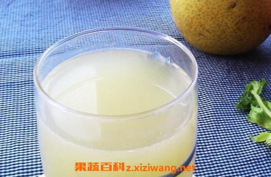 雪梨汁能加快肠胃蠕动,增加血管的韧性与弹性