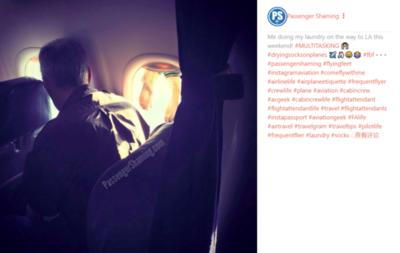 一飞机乘客用遮光板晒洗好的袜子,被网友抨击:令人作呕