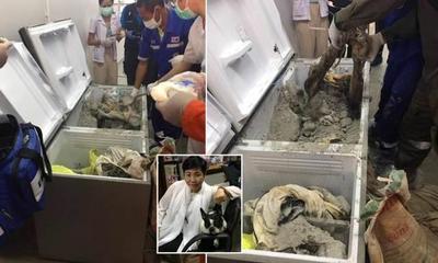 泰国女富商被人装进冰箱用水泥封起来,银行账户巨款被转走