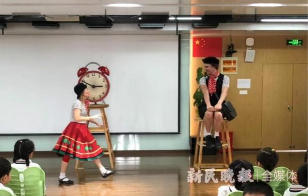 上海国际艺术节走进徐汇校园 澳大利亚艺术家表演赢得孩子笑声