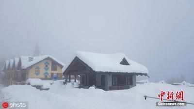 """欧洲多地遭遇大雪袭击 房屋被埋窗户遭""""冰封"""""""