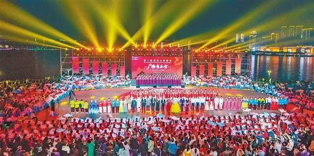 世界大河歌会广场音乐会万州专场举行