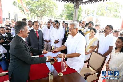 拉贾帕克萨宣誓就任斯里兰卡总统