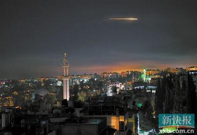 以色列大规模空袭叙利亚首都