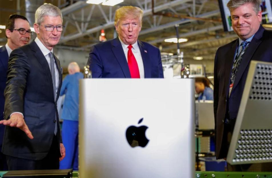 特朗普:考虑豁免苹果中国进口关税