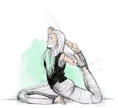 练瑜伽,就像阳光驱赶了黑夜…