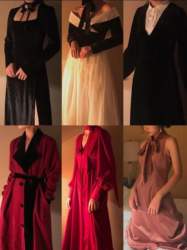 年会必备赫本风高腰丝绒礼服裙,小仙女们赶紧get起来