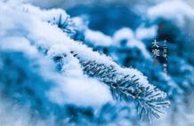今日大寒:风鸣北户霜威重,云压南山雪意高