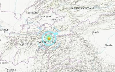 塔吉克斯坦北部发生5.5级地震 震源深度10千米