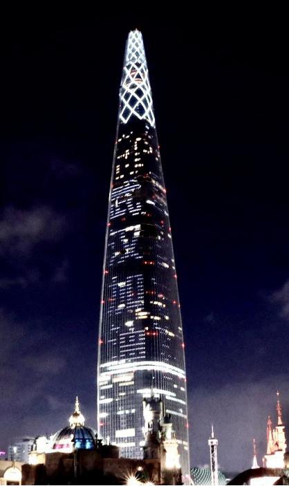 """昨晚,韩国最高摩天大楼为中国""""点亮"""",为武汉加油"""