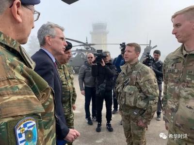 """美国希腊联合军事演练 """"阿帕奇""""和""""黑鹰""""攻击直升机齐出动"""