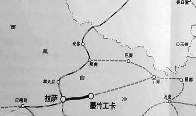 中印铁路规划