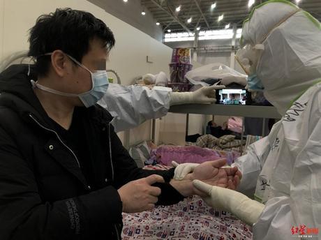 成都中医专家远程会诊汉阳方舱医院:现场开方,患者2小时内拿到药