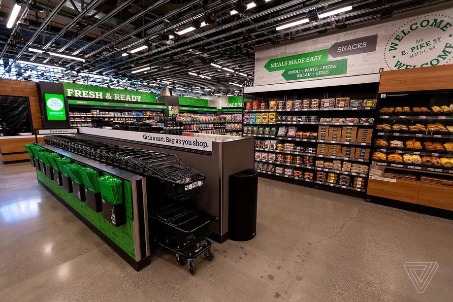 硅谷望远镜 | 亚马逊终于开了一家正常超市规模的无人售货店