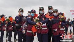 浙江439人医疗队凯旋:收治患者最多 换防次数最多