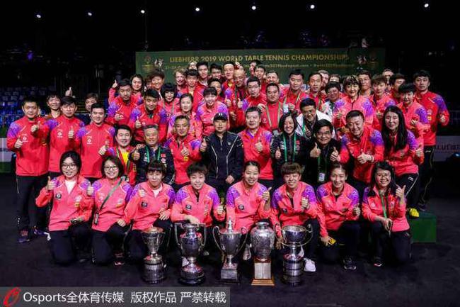 全球体育价值榜单:国乒5人上榜 朱婷武磊进前十