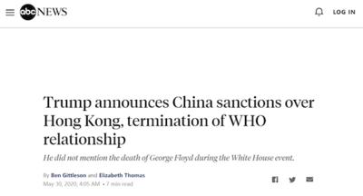 """美媒戳破特朗普制裁中国政策的""""别有用心"""""""