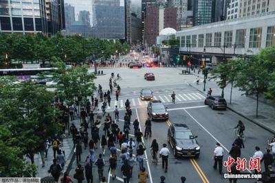 纽约千余市民集会为乔治·佛洛依德呐喊