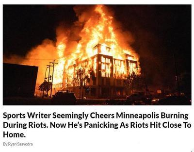 虚伪美媒NBA记者开始说烧得好,结果快烧到他家里了,马上变脸