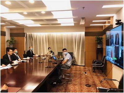 外交部亚洲司司长吴江浩同尼泊尔外交部东北亚司司长博克瑞尔举行视频会议