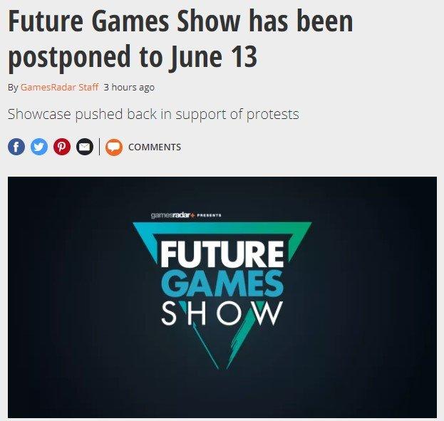 PCGamer游戏展、未来游戏展均已确认延期至6月13日