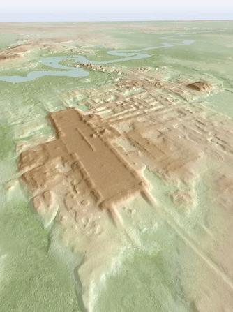 玛雅文明最古老最大的遗迹被发现 巨大祭坛遗址