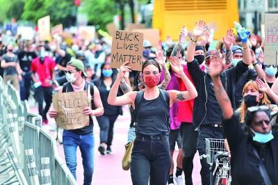 """美国示威潮折射""""系统性的种族主义"""""""