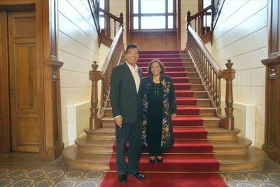 外交部副部长罗照辉会见巴基斯坦驻华大使哈什米
