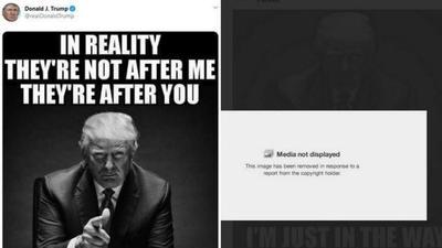 又一次!特朗普推特配图被平台删除