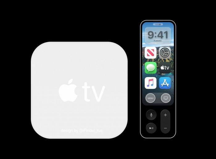 Apple TV 6 概念图曝光 采用白色外观设计遥控器带有显示屏