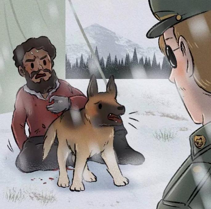 爆笑漫画:狗狗和男孩并肩作战,可是战场上男孩抛弃了狗狗