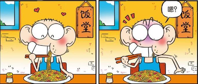 爆笑校园:呆头在饭堂吃饭吃出了钢丝,但厨师立马获得了一面锦旗