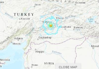 土耳其东部地区发生5.5级地震 震源深度10千米